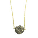 Pyrite Nugget Necklace - III