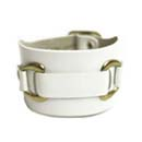 Leather Cuff - White